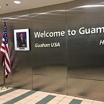 グアムに到着